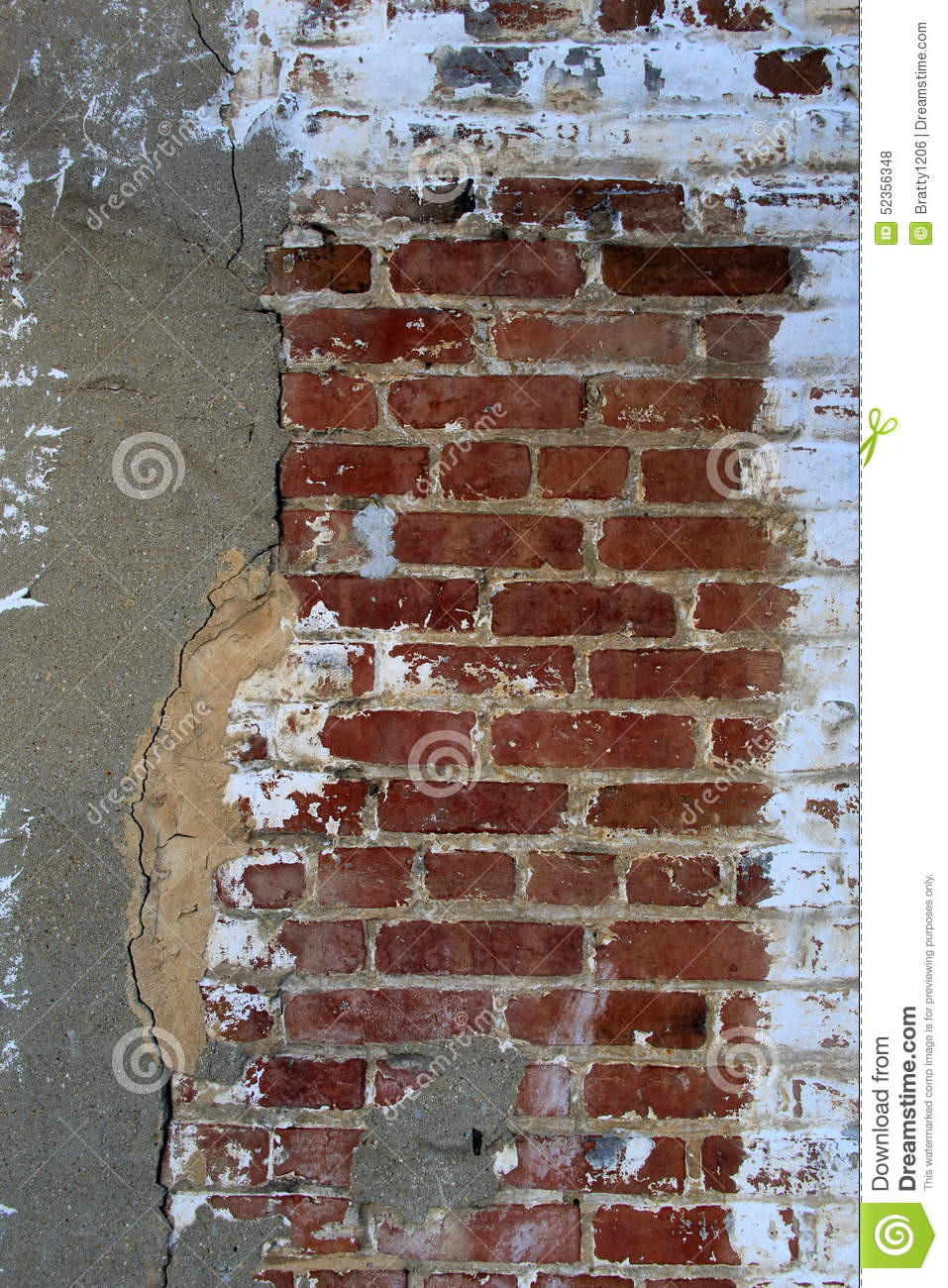 Old Crack Wall Of Brick And Stone Stock Photo Image 52356348