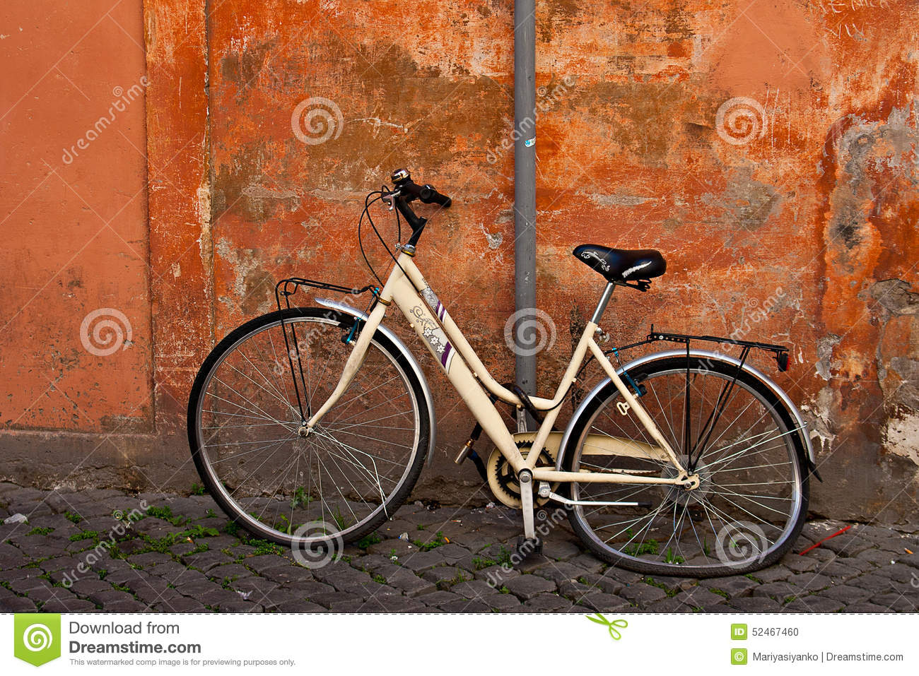 Old crash bicycle like symbol for attention at the street in rome royalty free stock photo biocorpaavc