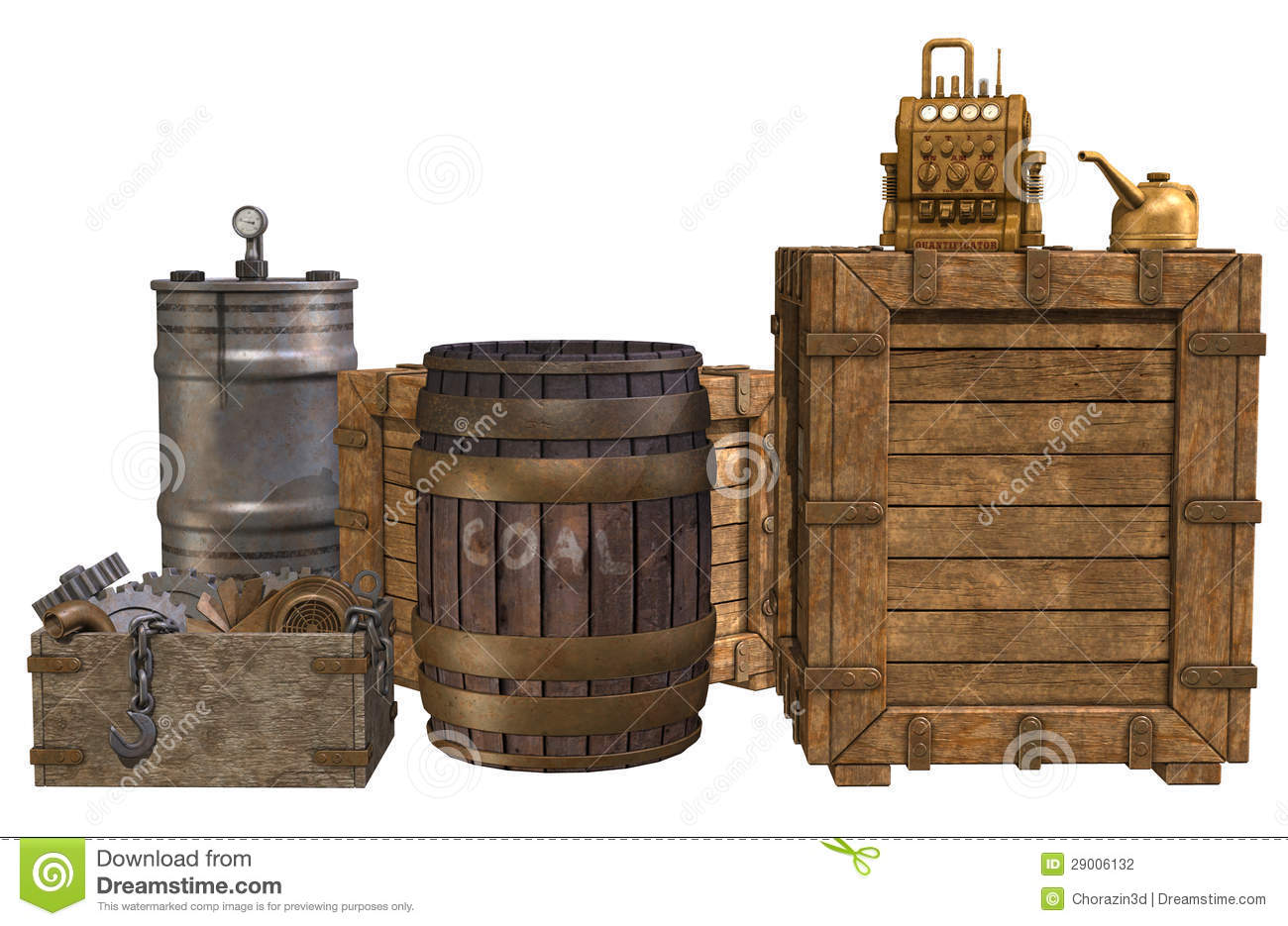 old crates and barrels stock illustration image of coal. Black Bedroom Furniture Sets. Home Design Ideas