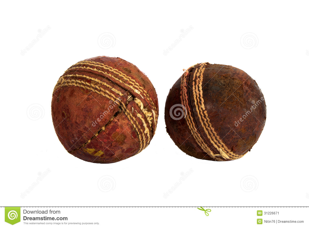 cricket ball and bat with black background