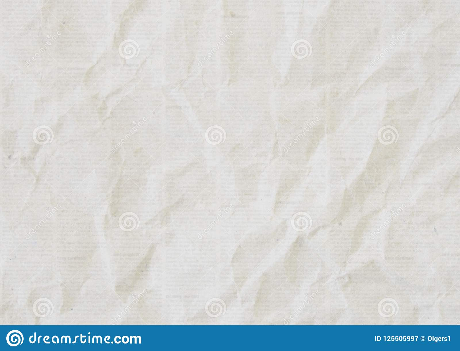 Old Crumpled Newspaper Texture Background Stock Image - Image of ...
