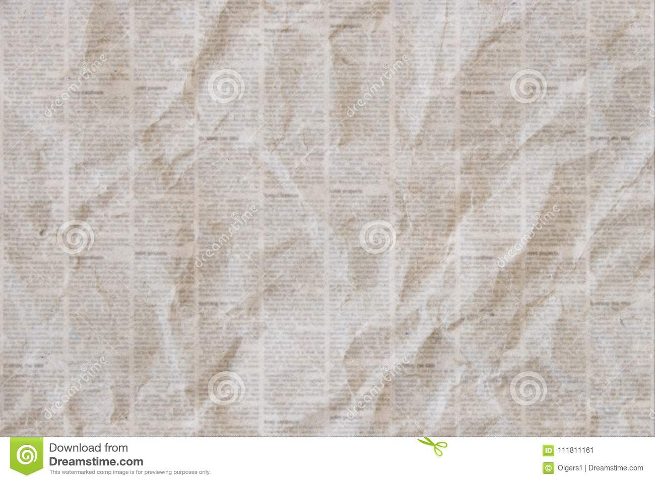 old crumpled newspaper texture background stock illustration