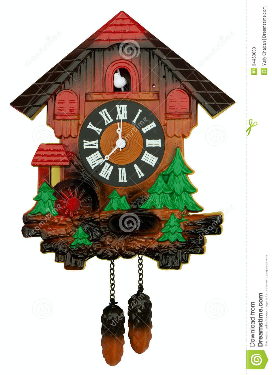 Old Cuckoo Clock Stock Photos - Image: 34460003