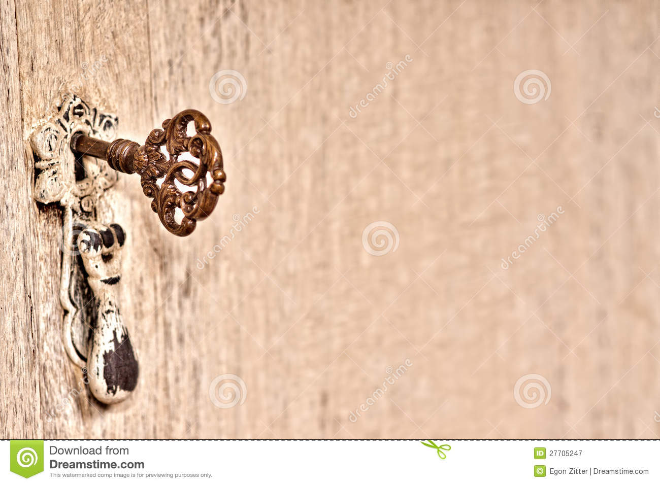 Old wood chair texture - Old Cupboard With Key Background Royalty Free Stock