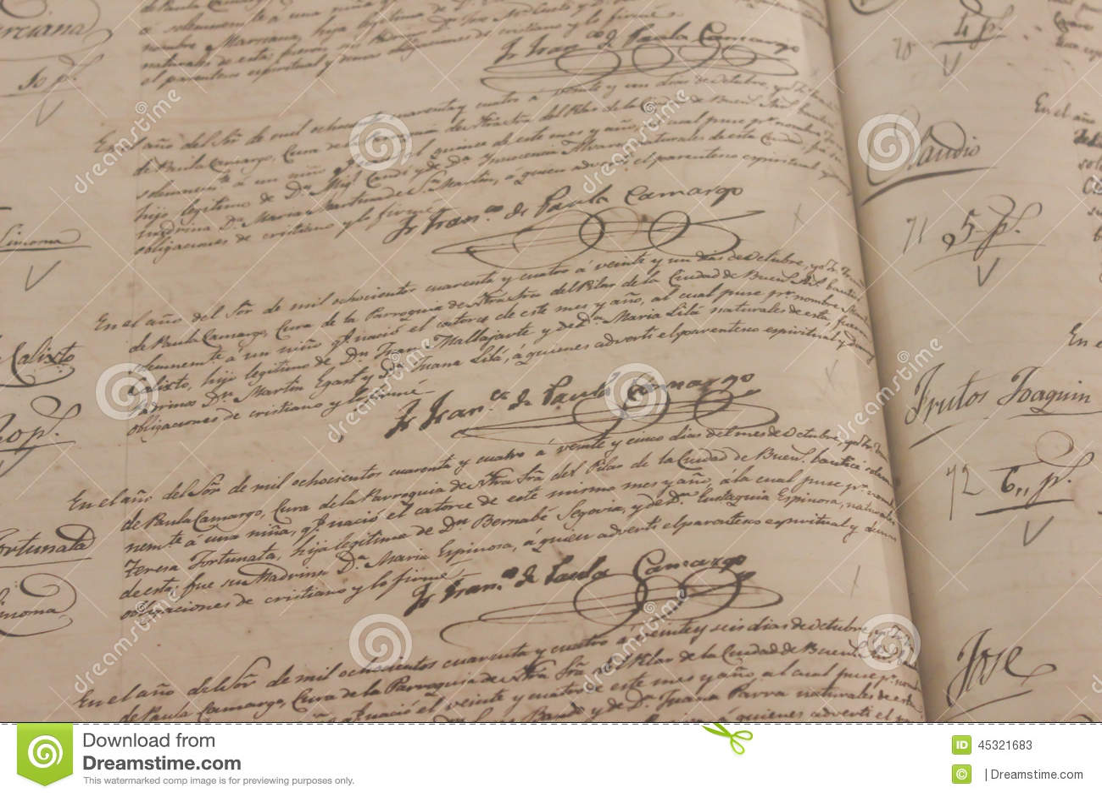 old cursive writing