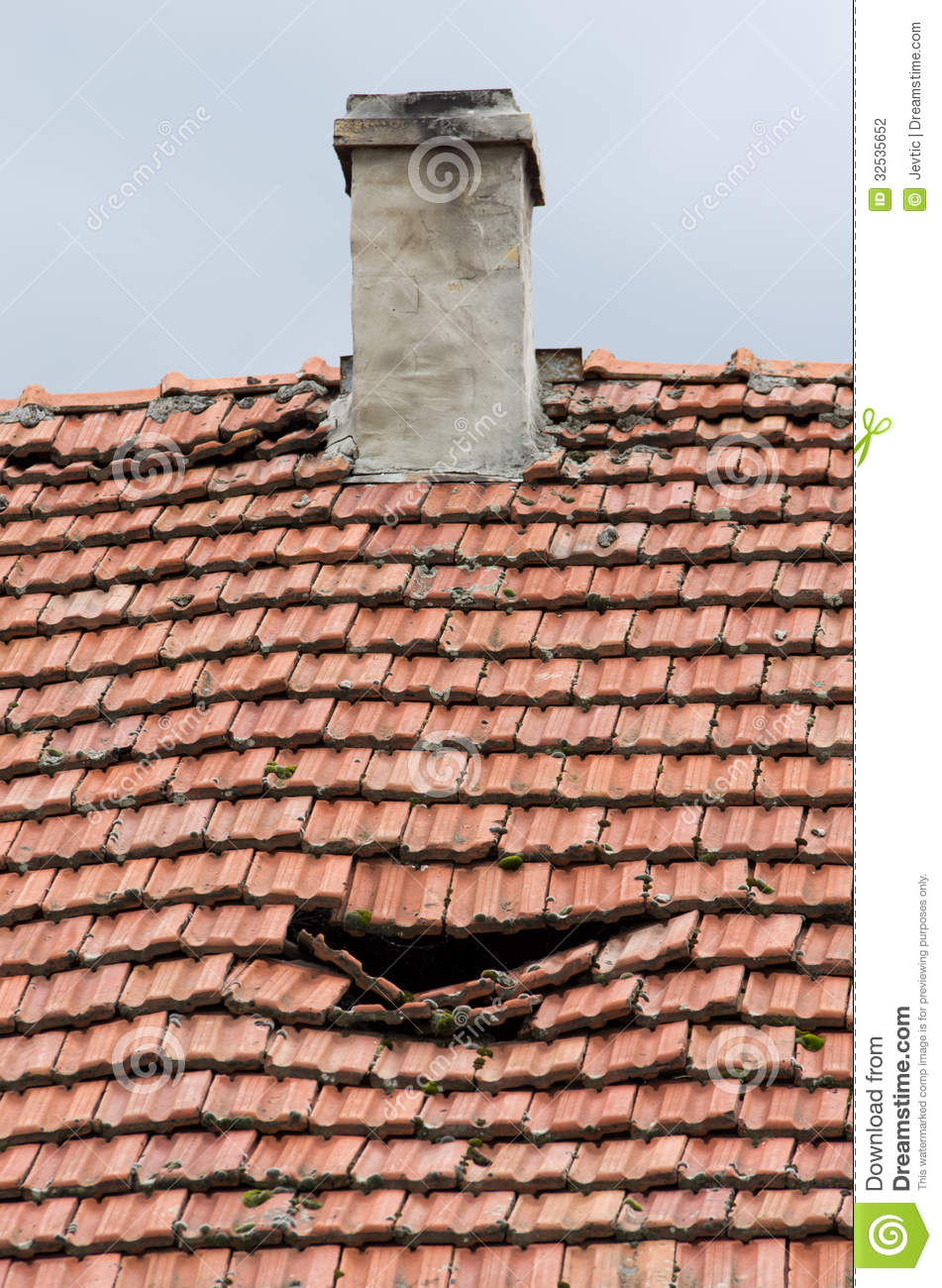 Old Damged Roof Stock Photo Image Of Pattern Hole