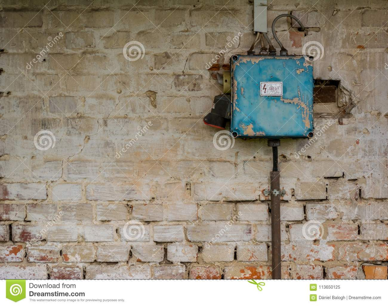 Fuse Box Switch Old Bad Rusty On Weathered Wall Stock Image Of Download Broken