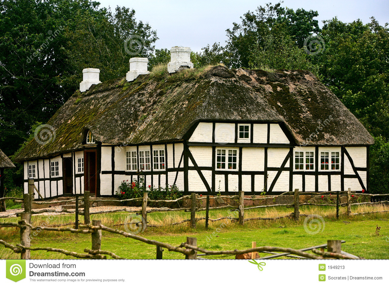 Old Danish Farm House Stock s Image