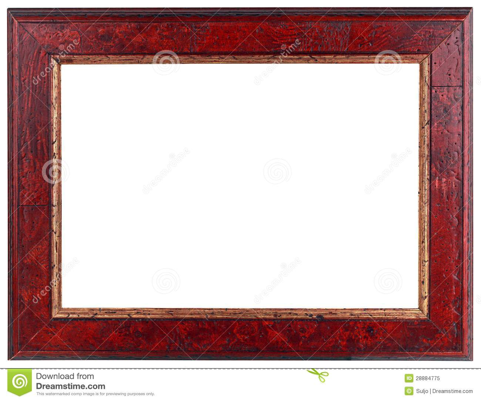 Dark red frame