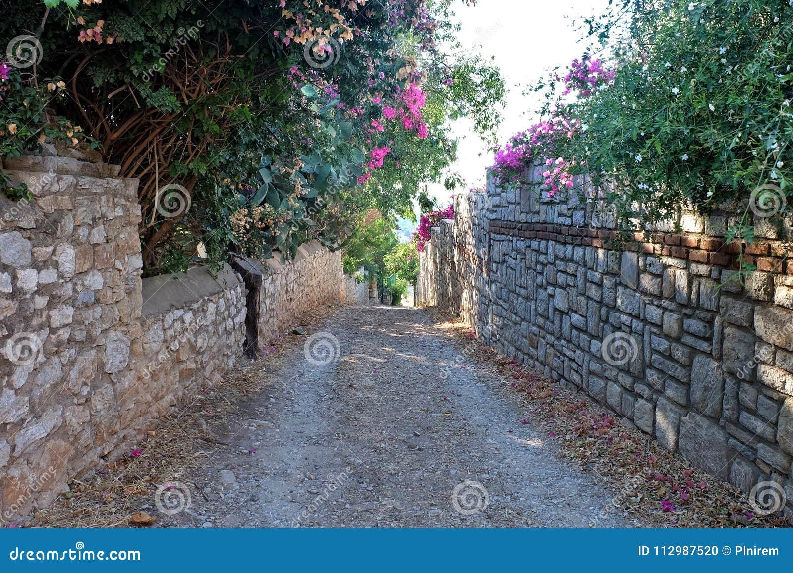 Street in old Datca, Mugla, Turkey