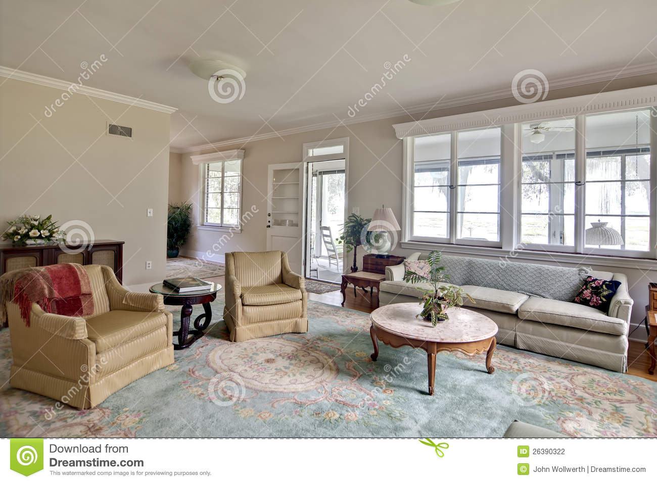 Old Dated Home Interior With Old Furniture The