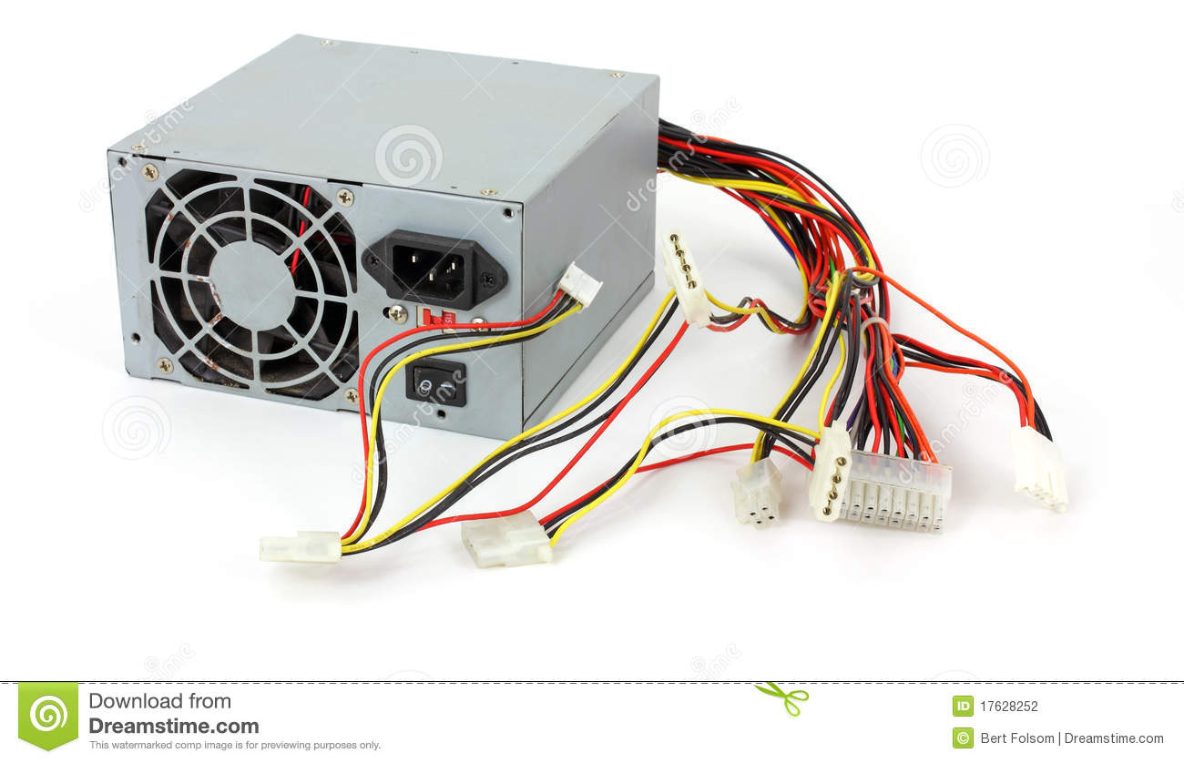 Old Dead Computer Power Supply Stock Photo - Image of cooler, supply ...