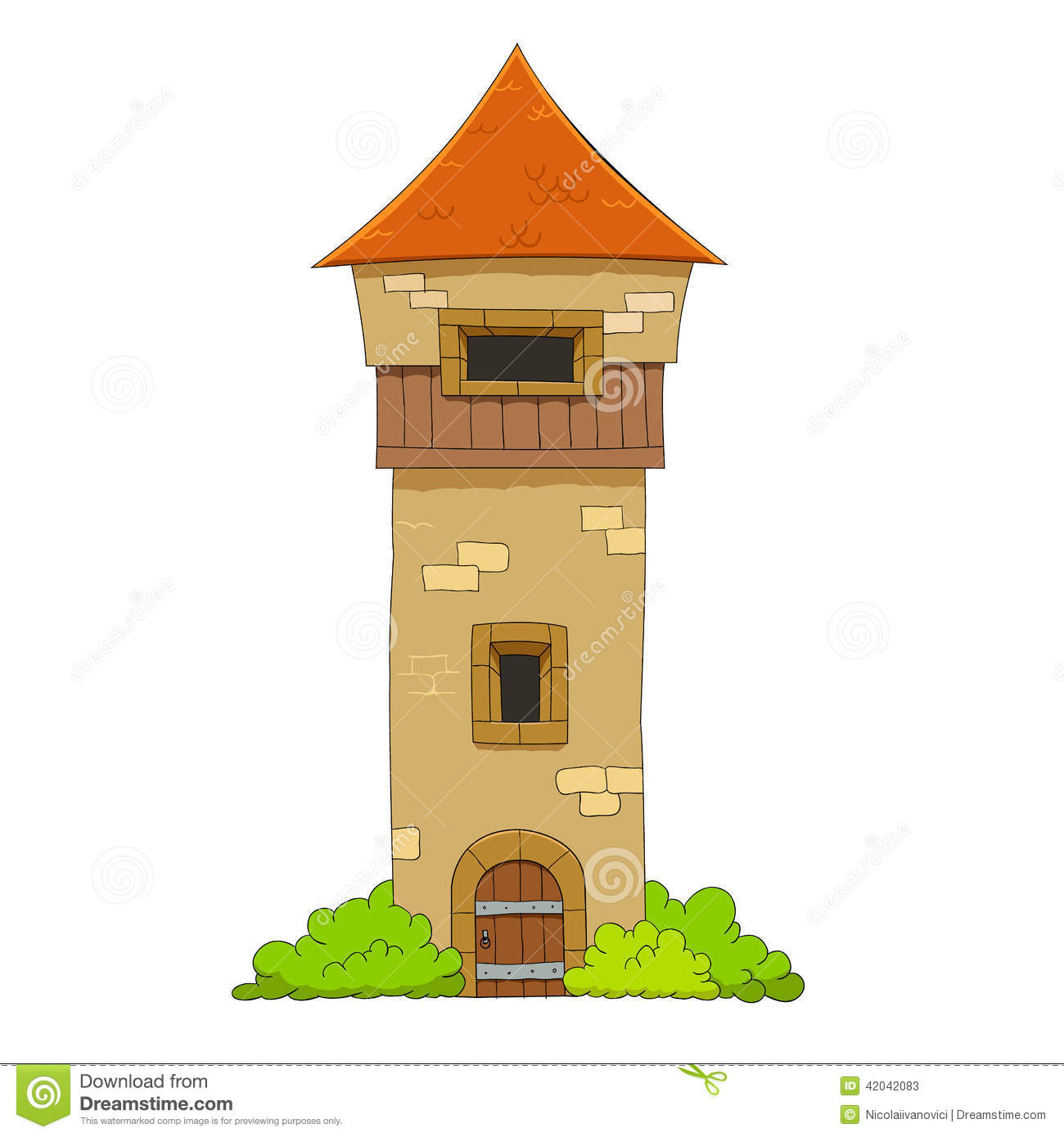 Old Defense Tower Stock Vector - Image: 42042083
