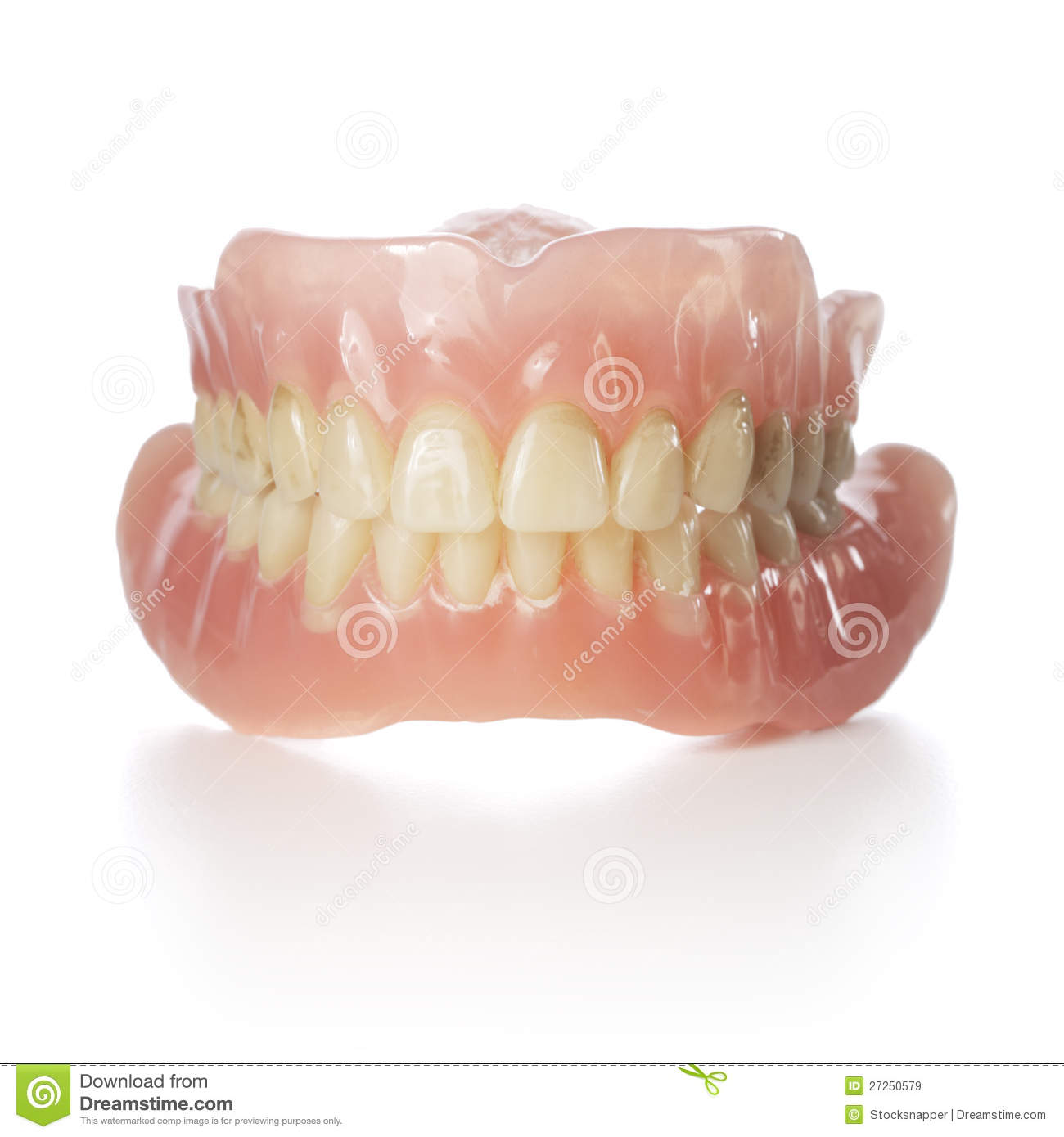 how to clean stained false teeth