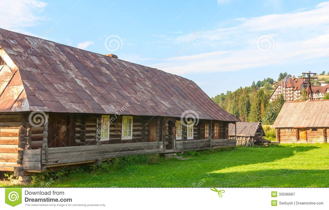 Old Deserted Wooden Farm House. Royalty Free Stock