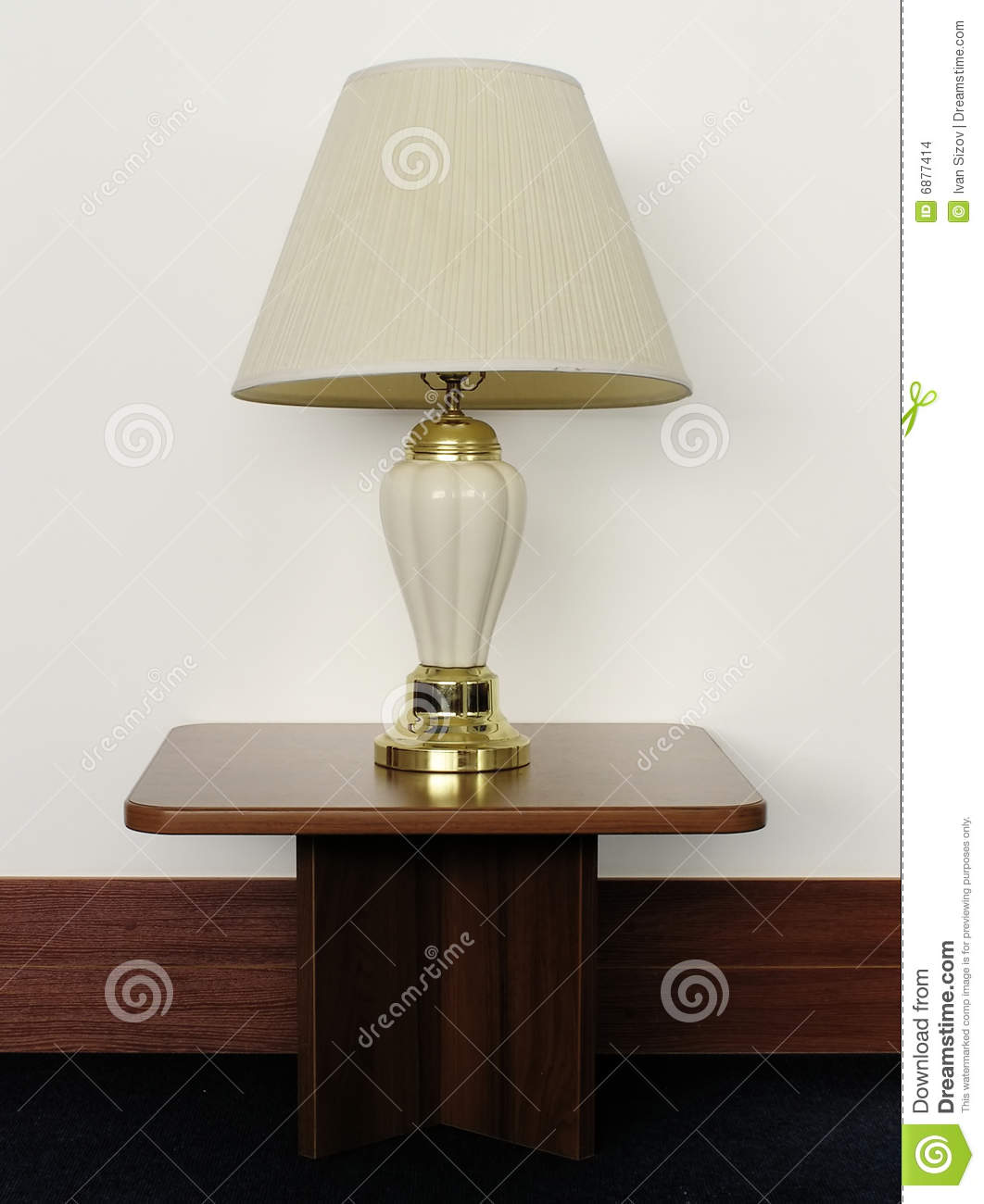 Lamp On Table: Old desk lamp on table,Lighting
