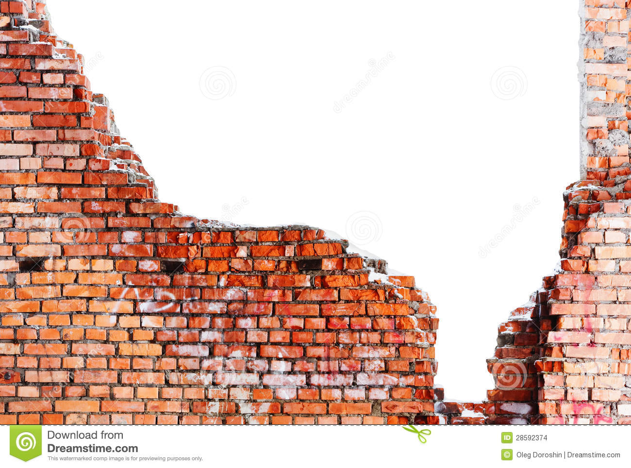 Old Destroyed Brick Wall Stock Images Image 28592374