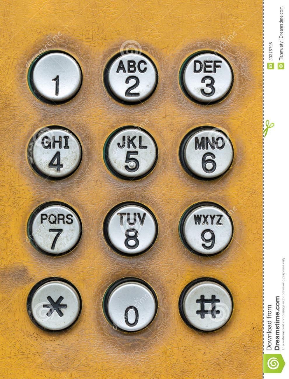 Old Dial Pad Of Public Telephone Box Royalty Free Stock Photo ...