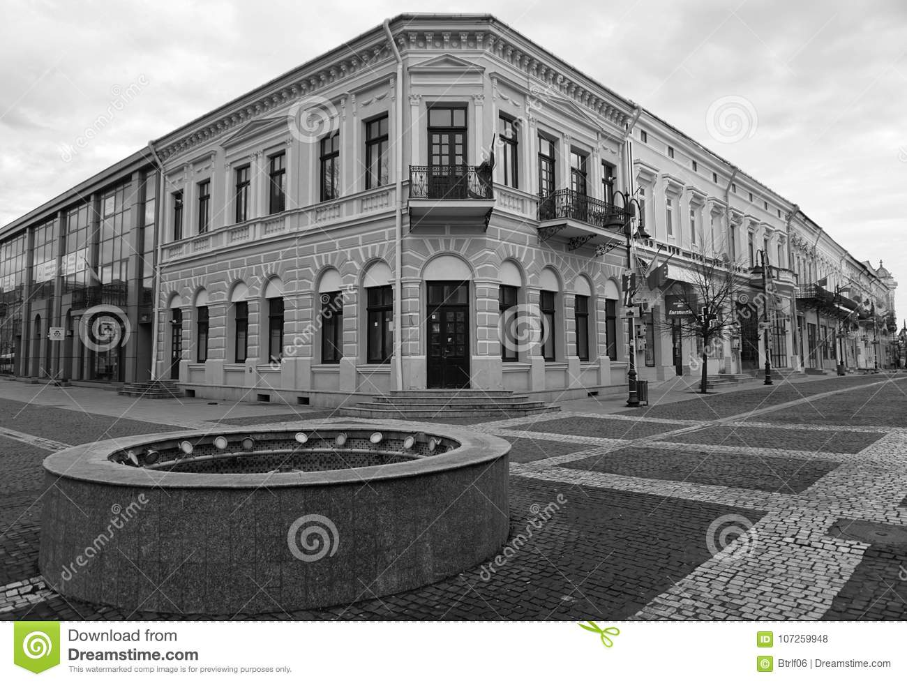 Old building in black and white