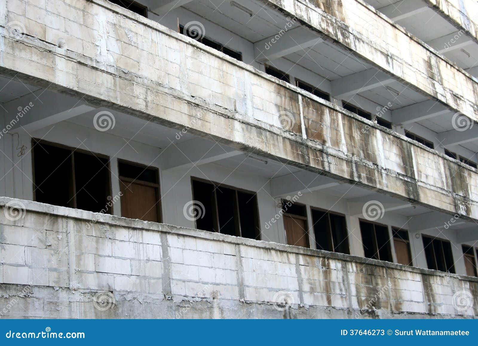 Old Concrete Buildings : Old dirty concrete building stock photos image