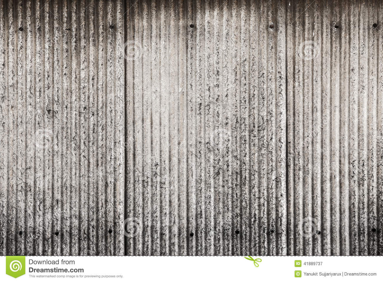 Old and dirty corrugated metal texture surface stock image for 3d roof wallpaper