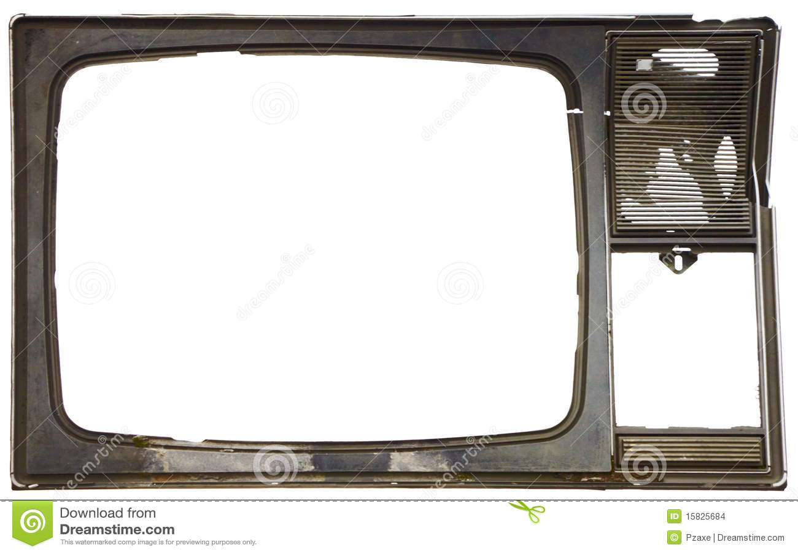 Old Dirty Frame Of Broken Tv Stock Images Image 15825684