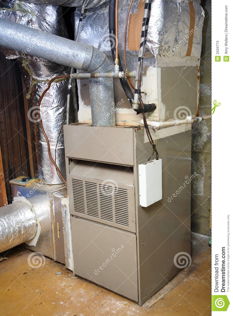 Old and dirty gas furnace