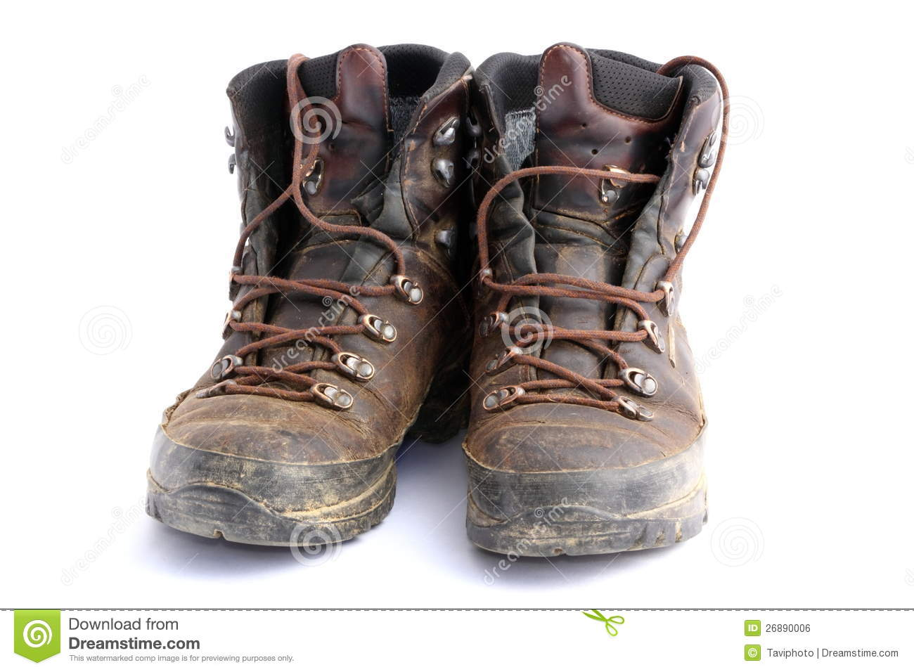 old dirty hiking boots stock photo  image of rough  grunge
