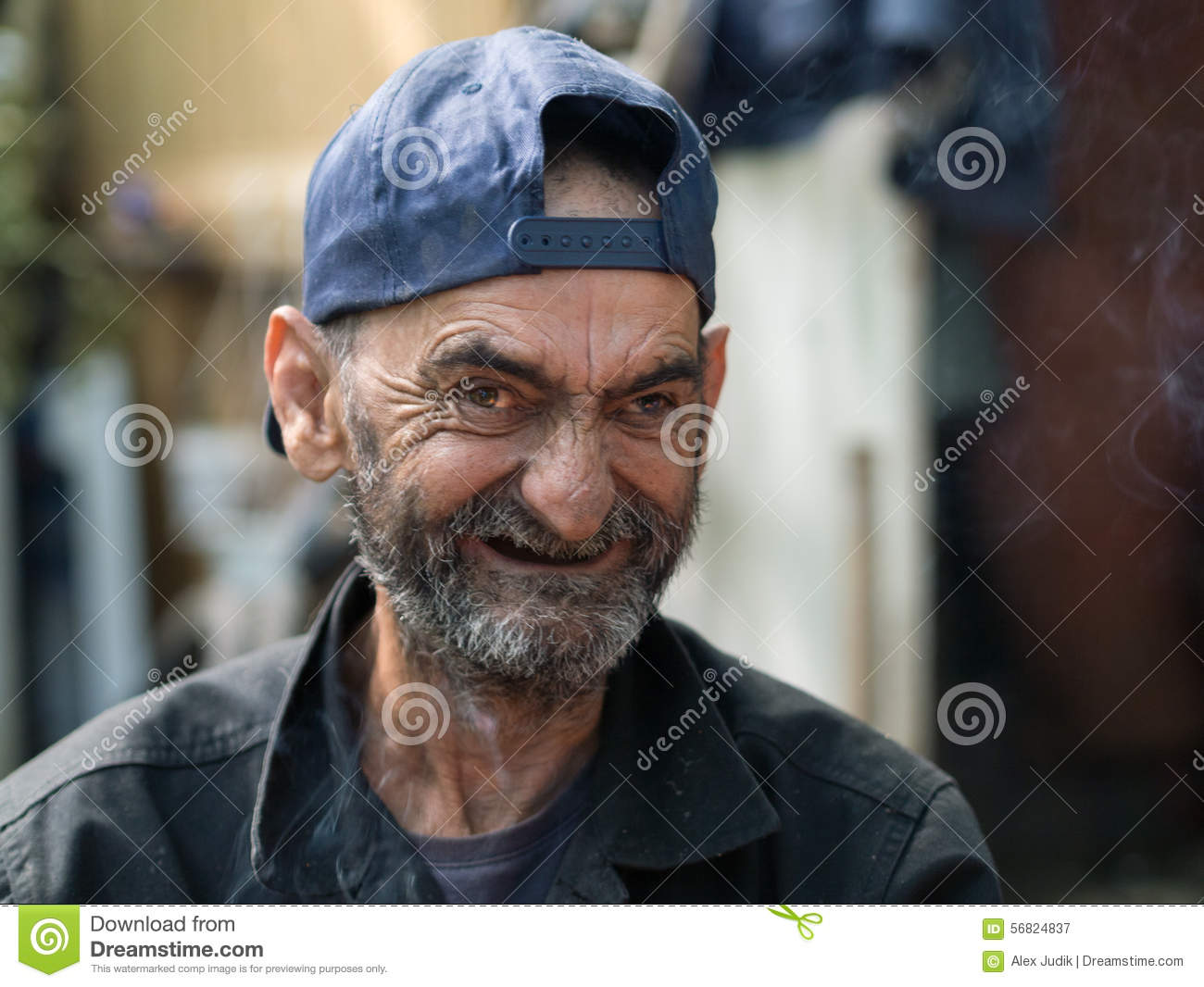 Stock Photo Old Dirty Homeless Man Ugly Laughing Image56824837 on Toothbrush Clip Art
