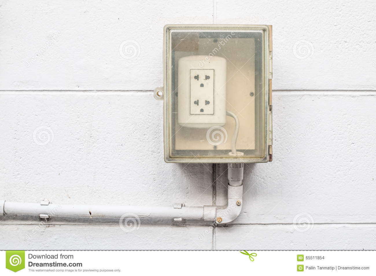 Old Dirty Outdoor Electric Socket Stock Photo Image Of Building Wiring An Plug