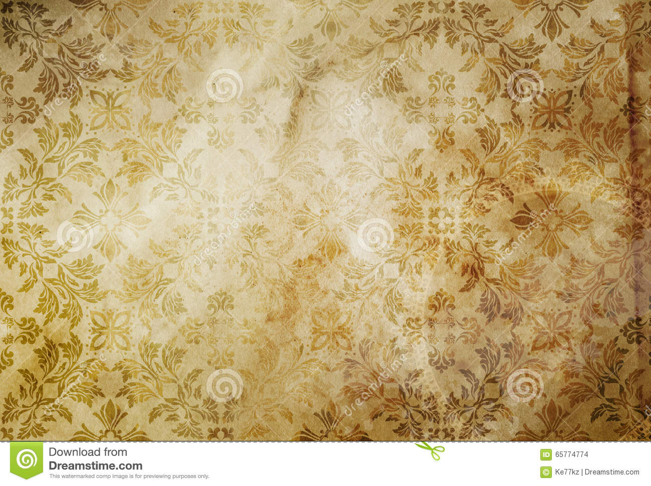 old dirty paper background with vintage patterns stock