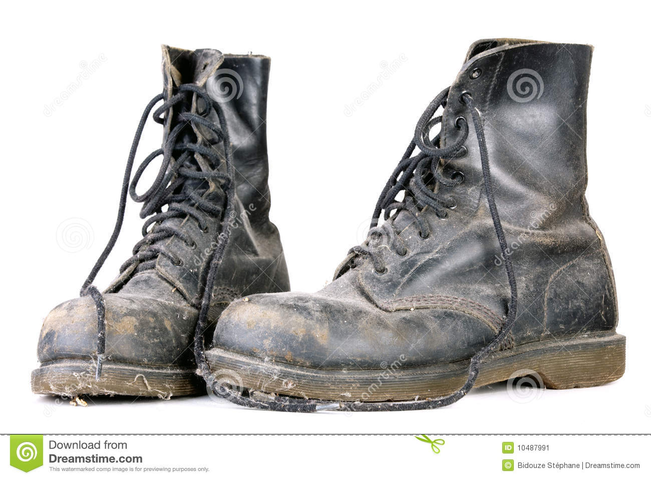 Old Dirty Shoes Stock Image Image 10487991