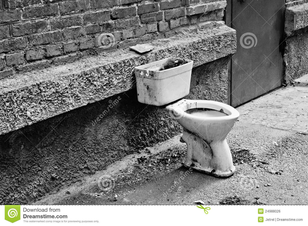 Old dirty toilet in the yard black and white royalty free stock image image 24988026 - Foto toilet ...