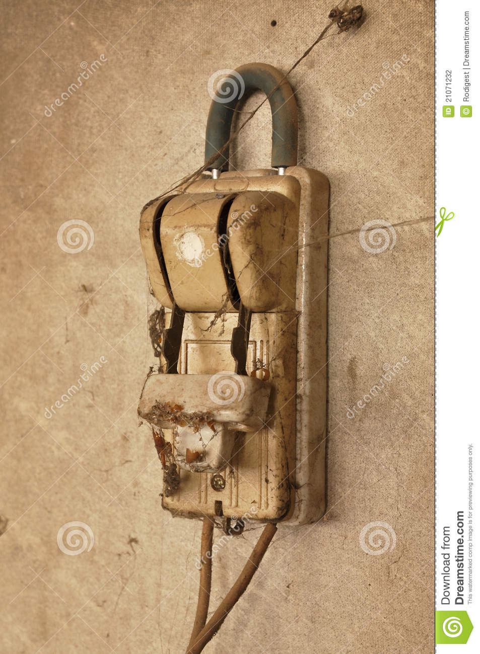old dirty wall switch knife stock photography