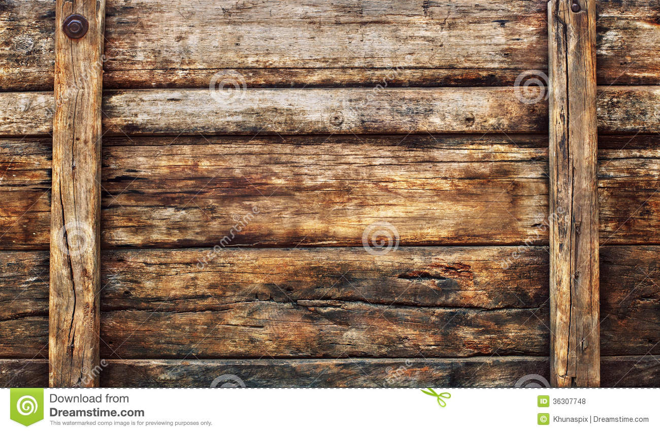 Old Dirty Wood Broad Panel Used As Grunge Textured