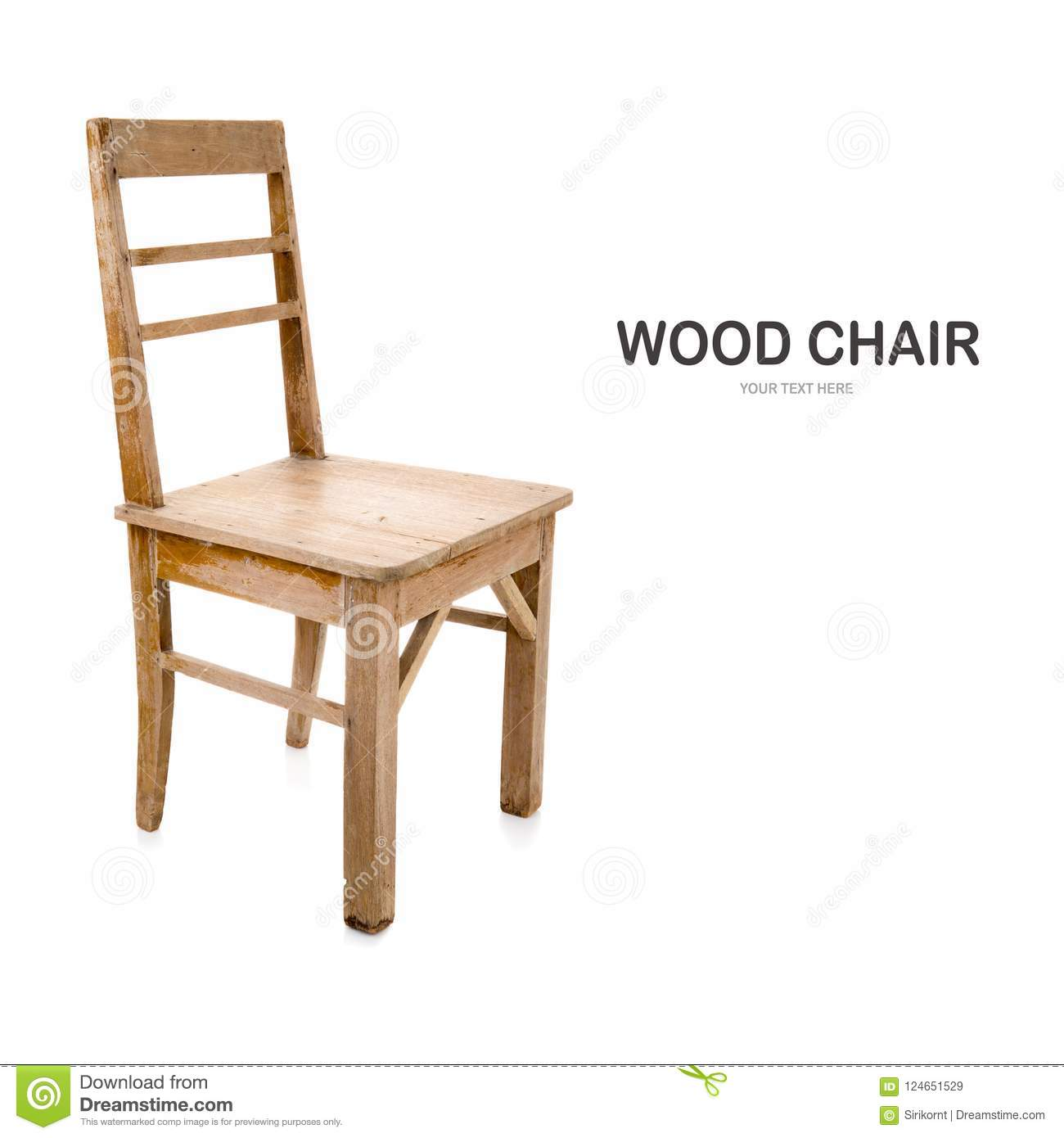 Old and dirty wood chair stock image. Image of furniture ...
