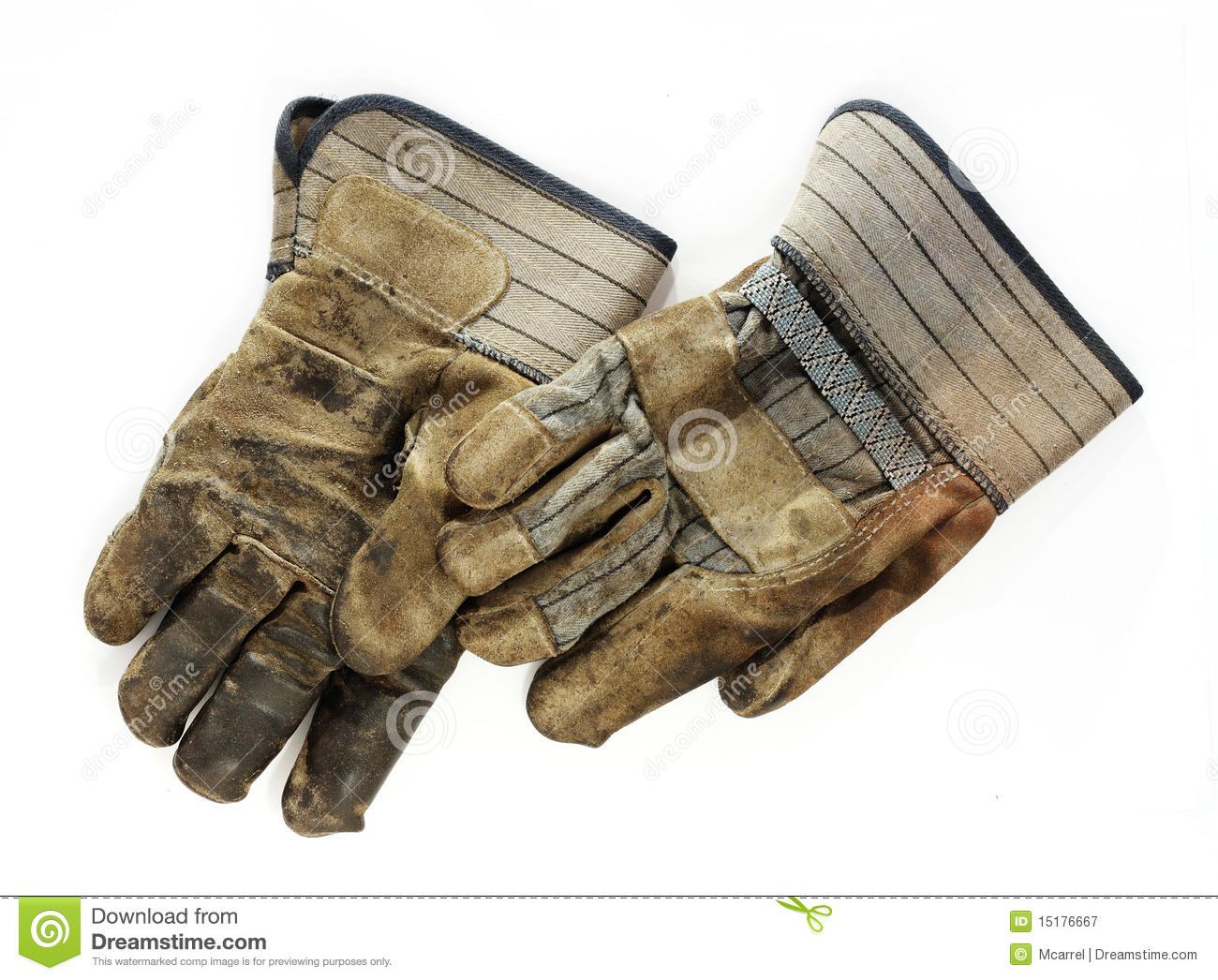 Old Dirty Work Gloves Royalty Free Stock Photography - Image: 15176667