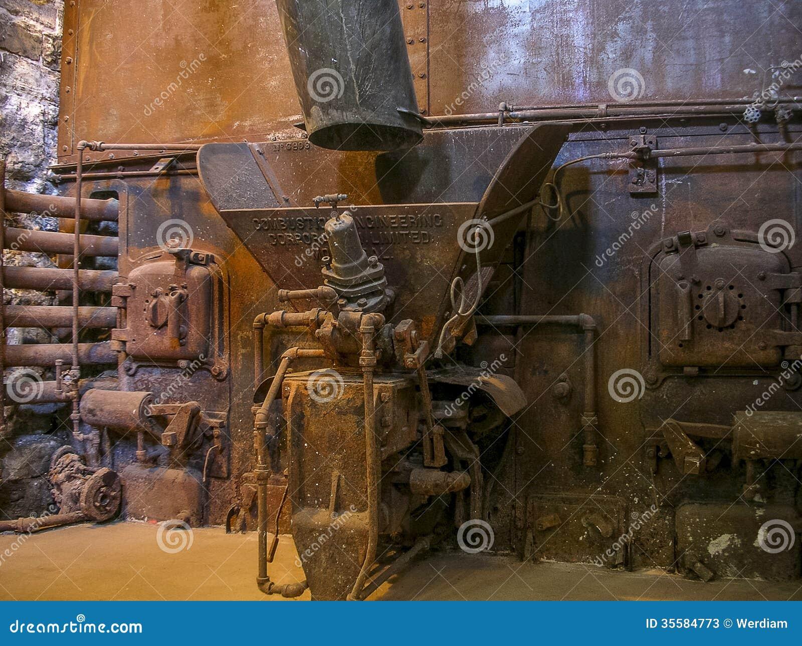 Old distillery boiler