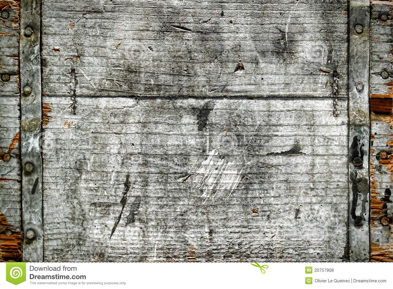 Old Distressed Antique Wood Box Grunge Background Stock