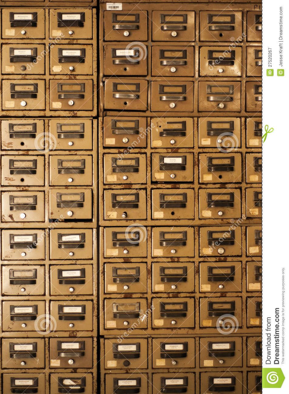 Old Disused Filing Cabinets Stock Image Image 27520267