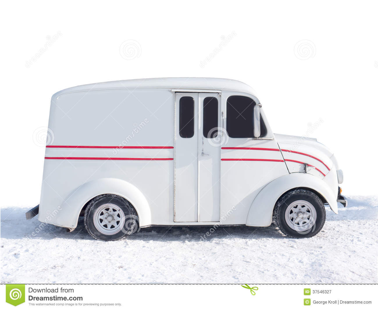 Old Divco Delivery truck stock image. Image of white - 37546327