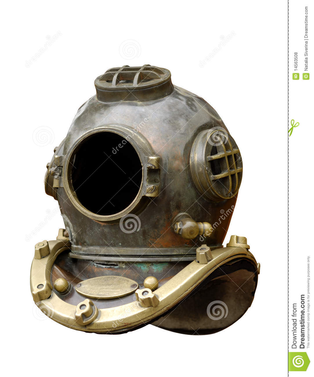 Old Fashioned Diving Helmet Clipart