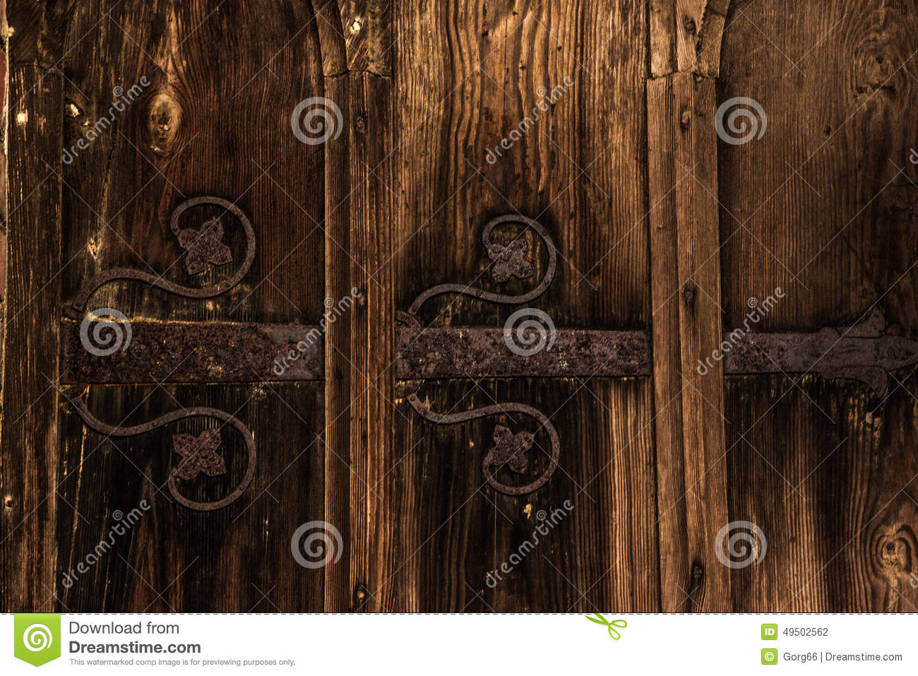 Old door forged decoration stock photo image 49502562 for Antique door decoration