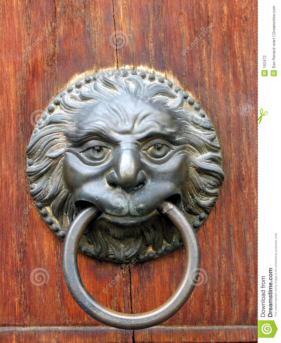 Old Door Handle Close Up In Toscany Italy Stock Photo