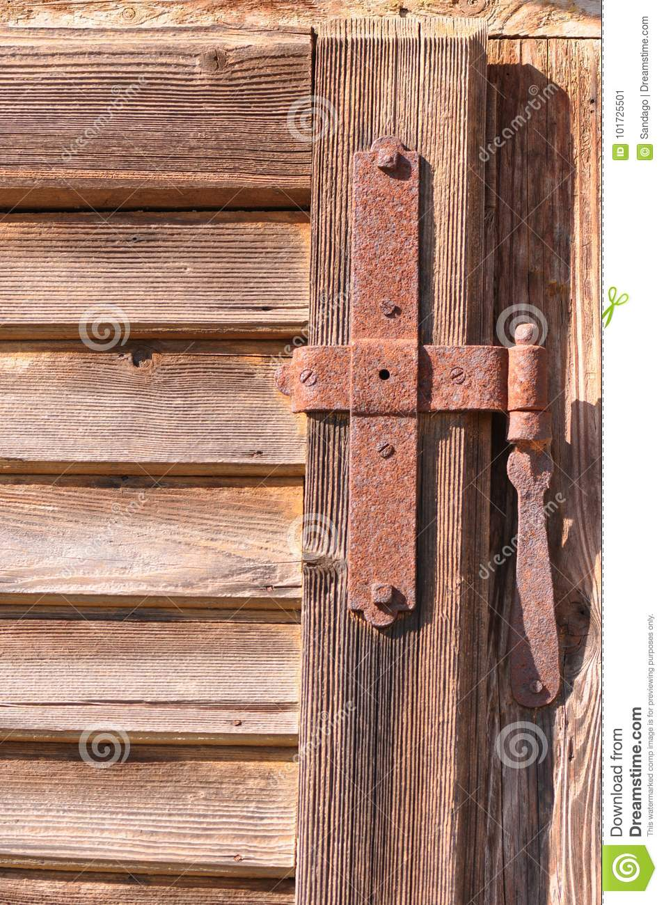 Download Old Door Hinge Stock Image. Image Of Metals, Rusty, Hinges    101725501
