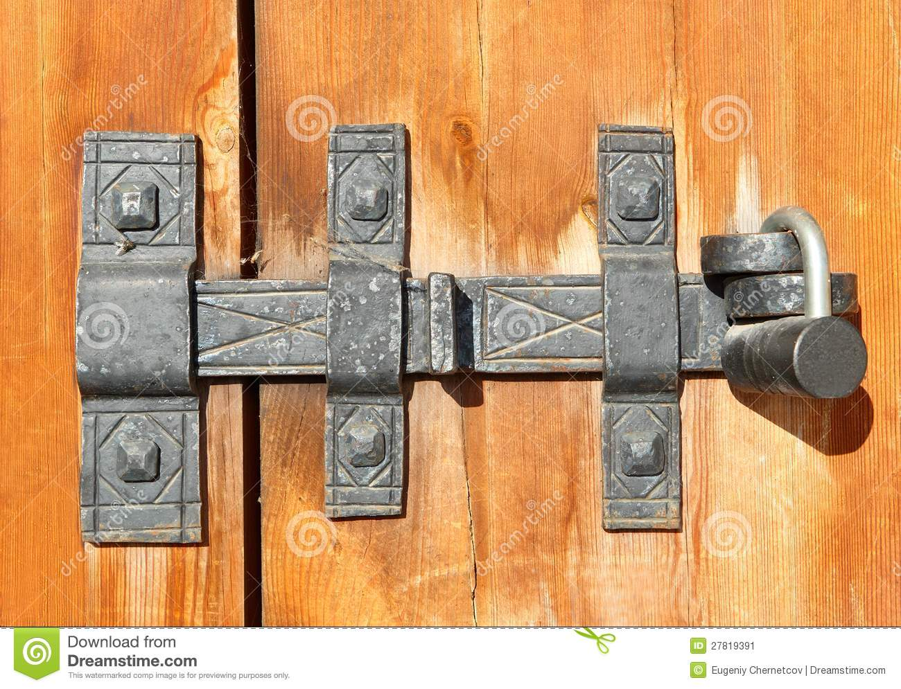 Old style wood door with latch stock photography - Old fashioned interior door locks ...