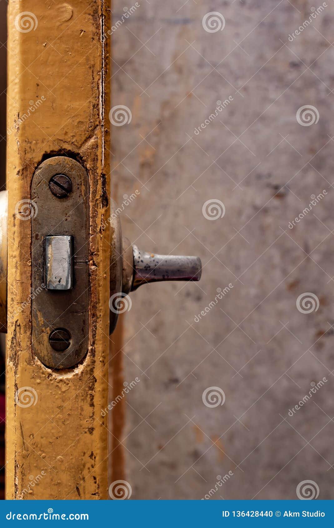 Old Door Lock, Door Replacement Stock Photo - Image of photo