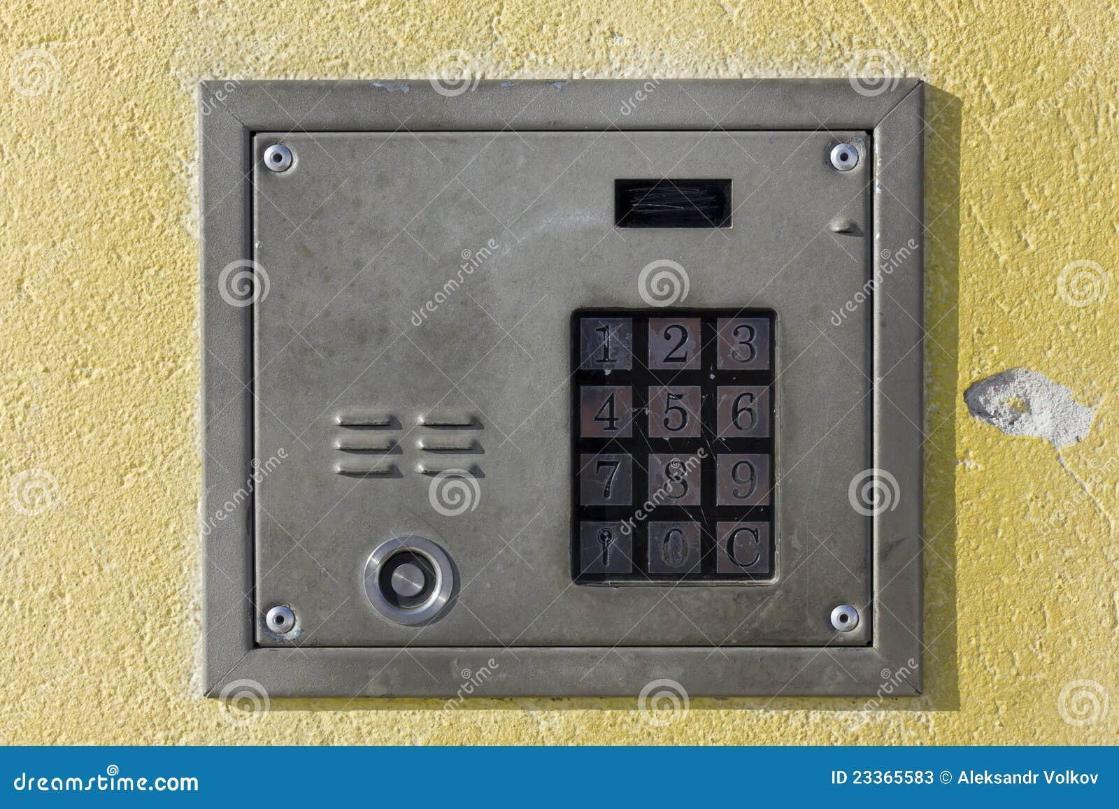 Old Door Lock With Numeric Keypad Stock Photos Image