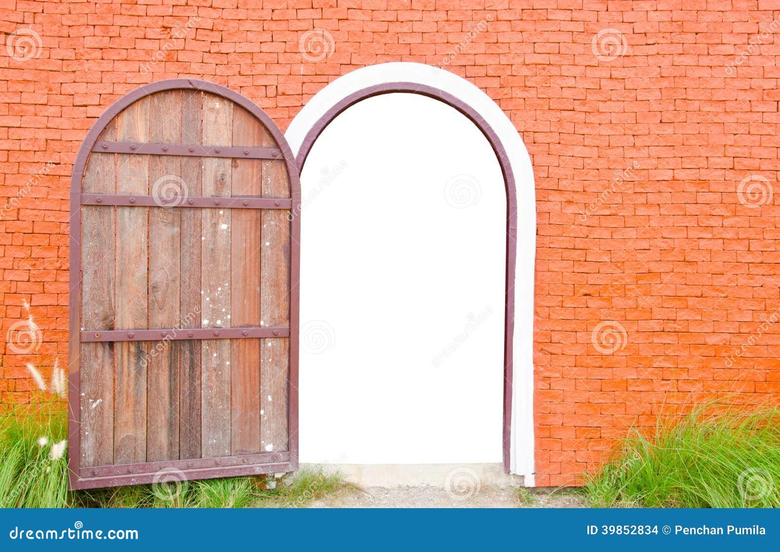 Old Door Is Open Stock Photo - Image: 39852834