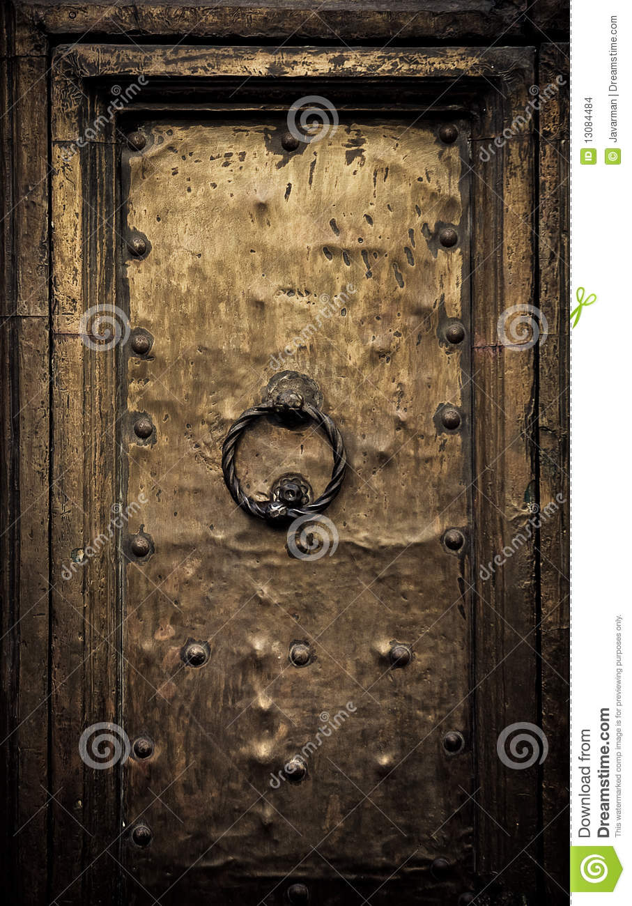 Francois Illas New Tradition: Old Door, Rome, Italy Stock Images